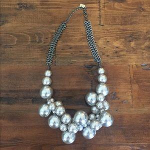 Silver Gray Bubble necklace